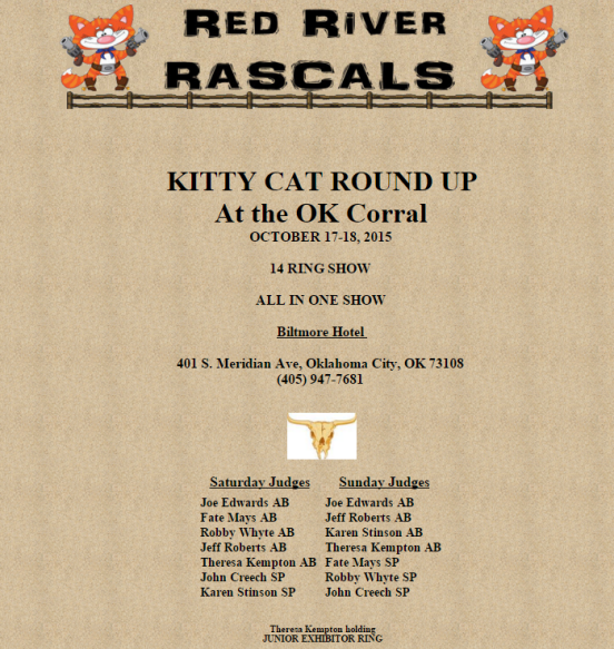 2015 TICA cat Show in Oklahoma City, OK